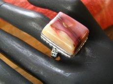 画像4: オーストラリア産アボリジニの石ムーカイトのリング指輪15号 (4)
