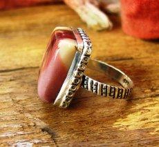 画像2: オーストラリア産アボリジニの石ムーカイトのリング指輪15号 (2)