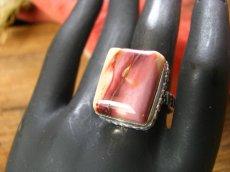 画像5: オーストラリア産アボリジニの石ムーカイトのリング指輪15号 (5)