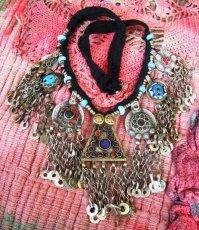 画像1: 砂漠の遊牧民アフガンじゃらじゃらネックレス*トライバルフュージョン衣装 (1)