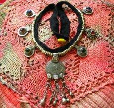 画像2: 砂漠の遊牧民アフガンビンテージネックレス*Kuchi*トライバルフュージョン衣装 (2)