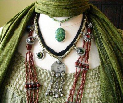 画像3: 砂漠の遊牧民アフガンビンテージネックレス*Kuchi*トライバルフュージョン衣装