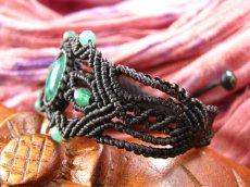 画像5: 邪気払いの石マラカイトと癒しの石アベンチュリンのナチュラルヒッピー編みブレスレット♪ (5)