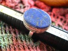 画像3: 神とつながる石*ラピスラズリのシルバーリング指輪サイズ18号*アフガン (3)