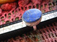 画像5: 神とつながる石*ラピスラズリのシルバーリング指輪サイズ18号*アフガン (5)