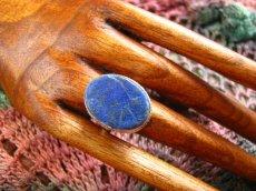 画像2: 神とつながる石*ラピスラズリのシルバーリング指輪サイズ18号*アフガン (2)