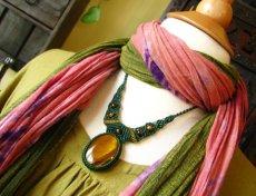 画像1: 自己実現の石タイガーアイのナチュラルヒッピーマクラメ編みネックレス♪ (1)
