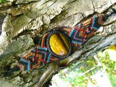 画像4: 全長4cm以上大ぶりタイガーアイのマクラメ編みブレスレット♪ヒッピー/ボヘミアン/旅人 (4)