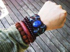 画像4: アフガン産ラピスラズリのマクラメ編みブレスレット*ボヘミアン/ヒッピー (4)