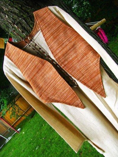 画像2: 地球に優しい手紡ぎ&手織りローシルクのアースカラー魔女ワンピ*ピースシルク/ヴェジタリアンシルク*ヒッピー*旅人*ビーガン
