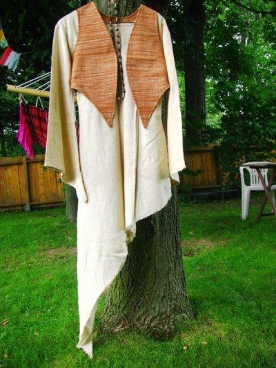 画像3: 地球に優しい手紡ぎ&手織りローシルクのアースカラー魔女ワンピ*ピースシルク/ヴェジタリアンシルク*ヒッピー*旅人*ビーガン
