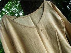 画像3: 地球に優しい手紡ぎ&手織りローシルクのアースカラー魔女ワンピ*ピースシルク/ヴェジタリアンシルク*ヒッピー*旅人*ビーガン (3)