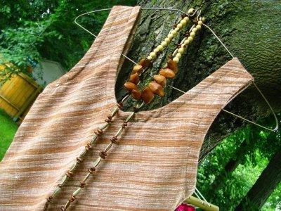 画像1: 日本より発送♪オーガニック&フェアトレード*手紡ぎ・手織りカディコットンハンドメイドワンピース*無農薬*スローファッション*エコロジー*エシカルファッション