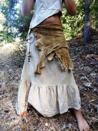 画像3: 日本より発送♪地球に優しい手紡ぎ&手織りしっかりローシルクのアースカラーロングスカート*ピースシルク/ヴェジタリアンシルク*ヒッピー*ビーガン*ネイティブ