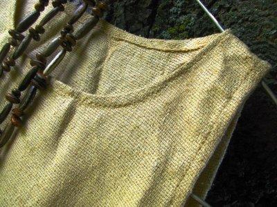 画像1: 日本より発送♪キッズ♪地球に優しい手紡ぎ&手織りローシルクシンプルトップ*ピースシルク/ヴェジタリアンシルク*無農薬*ビーガン