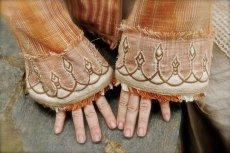 画像6: Mサイズ入荷♪手紡ぎ・手織りカディコットンのトライバル刺繍ビッグフードジャケット (6)
