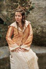 画像2: Mサイズ入荷♪手紡ぎ・手織りカディコットンのトライバル刺繍ビッグフードジャケット (2)