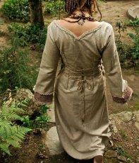 画像4: 残り1枚♪ 100%ナチュラル素材♪手紡ぎ・手織りローシルク手刺繍プリンセスドレス/ロングワンピース*フェアトレード*エコファッション*ビーガン (4)