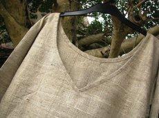 画像3: 日本より発送♪オーガニック&フェアトレード*手紡ぎ・手織りローシルク&カディコットンナチュラルワンピ*無農薬*エコファッション (3)