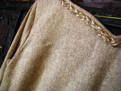 画像2: 残り1枚♪ 100%ナチュラル素材♪手紡ぎ・手織りローシルク手刺繍プリンセスドレス/ロングワンピース*フェアトレード*エコファッション*ビーガン
