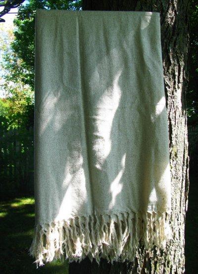 画像1: 日本より発送♪地球に優しい手紡ぎ&手織りローシルクビッグストール/ショール*ピースシルク/ヴェジタリアンシルク*ヒッピー*旅人*ビーガン