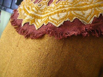 画像2: ハンドメイド♪ダンス衣装・パーティーにも♪チベット装飾紋様手刺繍入り上質ローシルクのターラ(多羅菩薩)ドレス*野蚕絹*エスニック*エコファッション*フェスティバル