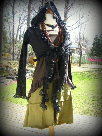 画像2: 再入荷★マルチに使える!!カナダ発ブランド Sati Creation オーガニックコットン ジプシースカート*フラメンコ*フェアトレード*ダンス衣装*フェスティバル