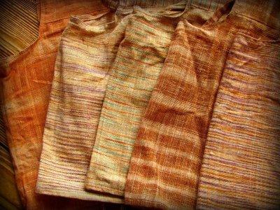 画像1: 地球に優しい手紡ぎ&手織りカディコットンのチョリ風デザイントップ*インドサリー*トラベラー*エシカルファッション