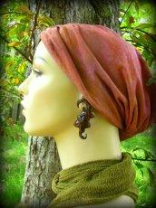 画像3: エキゾチックデザインなトライバル木彫りピアス*天然素材*安心のサージカルステンレス使用 (3)