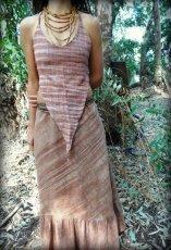 画像5: 新柄入荷♪手紡ぎ・手織りカディコットン ジプシースカート*無農薬*スローファッション*エコロジー*エシカルファッション (5)