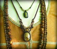 画像8: アースカラー★聖なる石ピクチャージャスパーのマクラメ編みネックレス*パワーストーン天然石 (8)