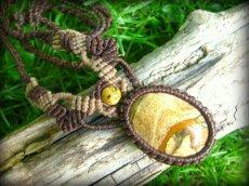 画像3: アースカラー★聖なる石ピクチャージャスパーのマクラメ編みネックレス*パワーストーン天然石 (3)