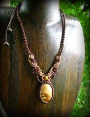 画像5: アースカラー★聖なる石ピクチャージャスパーのマクラメ編みネックレス*パワーストーン天然石 (5)