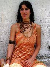 画像4: オーガニック&フェアトレード*手紡ぎ・手織りカディコットンハンドメイドワンピース*無農薬*スローファッション*エコロジー*エシカルファッション (4)