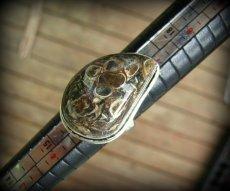 画像3: レア希少ツリテラ瑪瑙リング指輪10号*巻貝化石レアストーン (3)