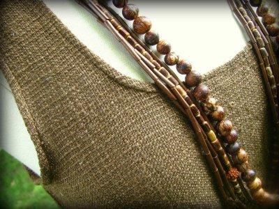 画像1: 再入荷★地球に優しい手紡ぎ&手織りローシルクトップ*ピースシルク/ヴェジタリアンシルク*ヒッピー*フェス