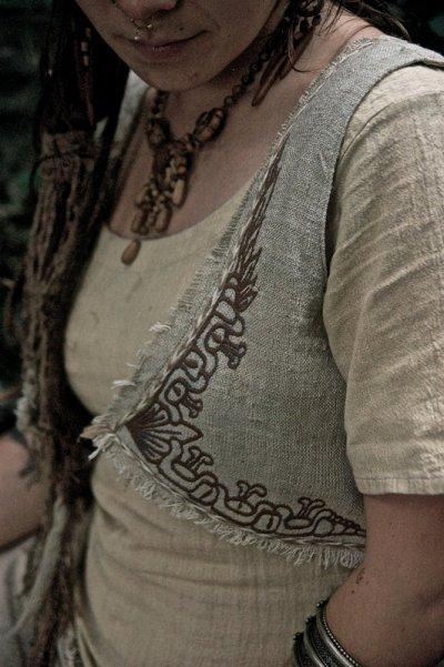 画像3: マヤ紋様手刺繍が個性的!!地球に優しい手織りリネン素材ベスト*トライバル*エスニック*無農薬オーガニック