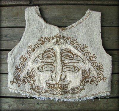 画像2: マヤ紋様手刺繍が個性的!!地球に優しい手織りリネン素材ベスト*トライバル*エスニック*無農薬オーガニック
