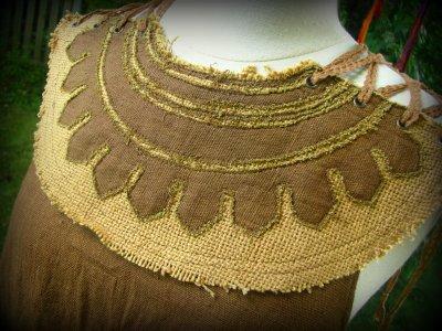 画像3: 地球に優しい手織り・手染めカディコットンのトライバルクイーントップ*フェアトレード/ナチュラル/エスニック/ネイティブ