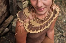画像3: 地球に優しい手織り・手染めカディコットンのトライバルクイーントップ*フェアトレード/ナチュラル/エスニック/ネイティブ (3)