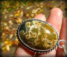 画像5: 不思議模様マダガスカル産オーシャンジャスパー天然石ペンダントトップ*パワーストーン*レアストーン (5)