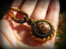 画像4: 和柄風模様が個性的★マダガスカル産オーシャンジャスパーのマクラメ編みネックレス*天然石*パワーストーン (4)