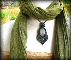 画像5: 浄化の石トルマリンインクォーツのマクラメ編みネックレス*水晶*トルマリンクォーツ (5)