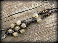 画像2: ゴールドルチル/ゴールドルチルクォーツ天然石ネックレス*パワーストーン (2)