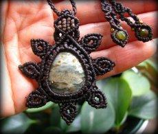画像5: オーシャンジャスパー(マダガスカル産)マクラメ編みネックレス*天然石*パワーストーン (5)