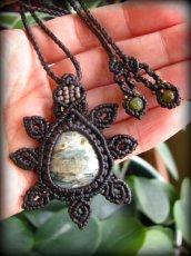 画像2: オーシャンジャスパー(マダガスカル産)マクラメ編みネックレス*天然石*パワーストーン (2)