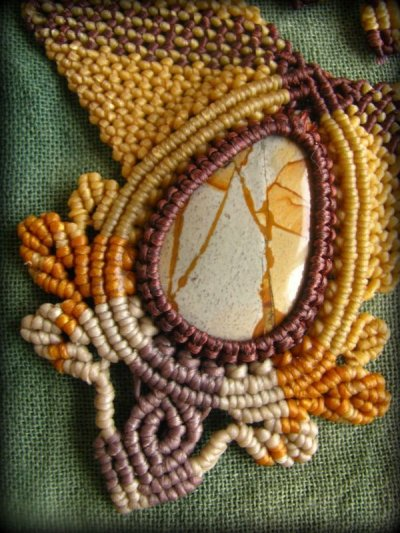 画像3: 1点もの★聖なる石★オーストラリア産ピクチャージャスパーのハンドメイド手編みネックレス/チョーカー*パワーストーン天然石*マクラメ