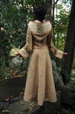 画像4: Sサイズ再入荷!! 手織りウールのネイティブフェザー刺繍ロング巻きスカート*ハンドメイド*カディコットン (4)
