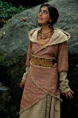 画像3: マルチに使える手織りカディコットンビッグフード付きロングコート*アウター*オーガニック*フェスティバル (3)