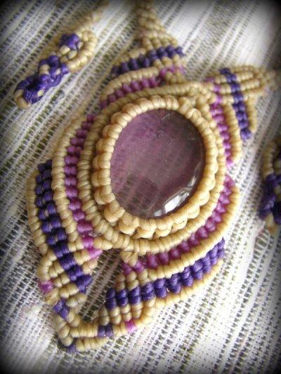 画像3: 1点もの アメジスト ネックレス*紫水晶 アメシスト*マクラメ ハンドメイド天然石アクセサリー